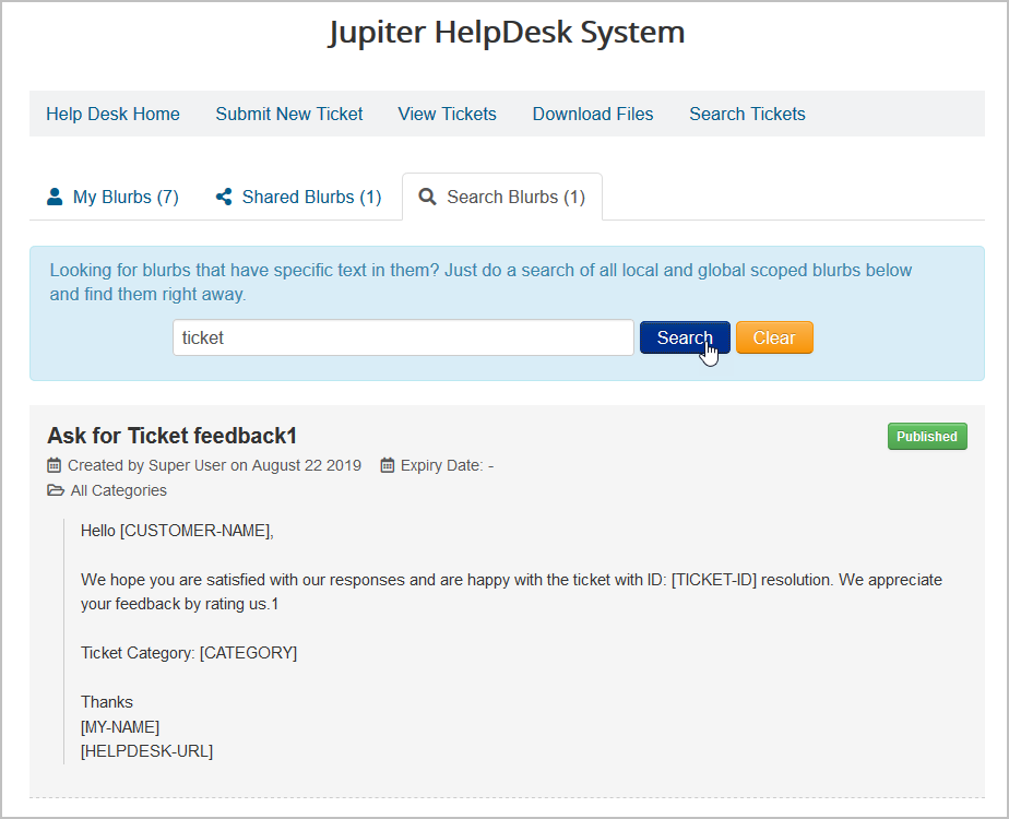 blurb-search JV-HelpDesk Pro v2.4 - New Feature - Canned Responses for Staff