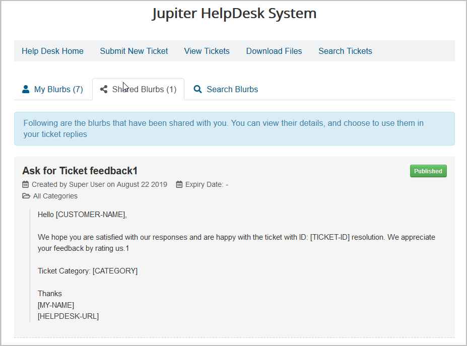 blurb-shared JV-HelpDesk Pro v2.4 - New Feature - Canned Responses for Staff